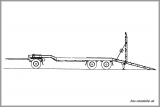 GOLDHOFER 25-ton flatbed trailer